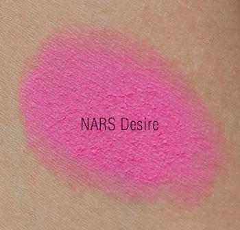 Nars Desire Swatches