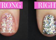 Cómo aplicar correctamente el glitter para una manicura perfecta