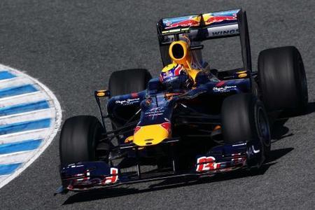 Mark Webber es el más rápido en el primer día soleado