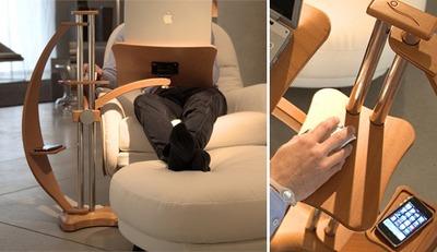 LoungeWood, el accesorio definitivo para usar el portátil en el sofá