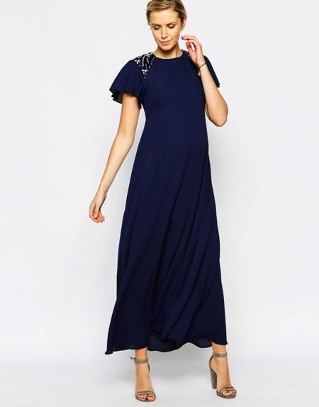 Vestido Azul Marino Brillos