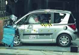 Peugeot 1007, el mejor en la EuroNCAP