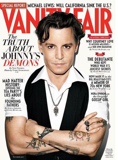 Johnny Depp - o su doble de cera - en la portada de Vanity Fair
