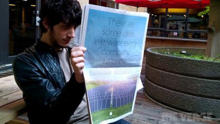 Apple se burla de Samsung con un anuncio de prensa sobre su responsabilidad medioambiental