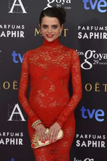 Macarena Gómez, embarazada y fiel a Lorenzo Caprile en los Premios Goya 2015