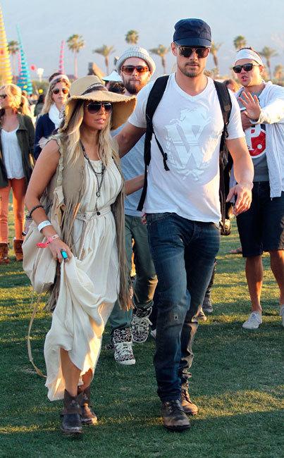 Josh Duhamel y Fergie coachella