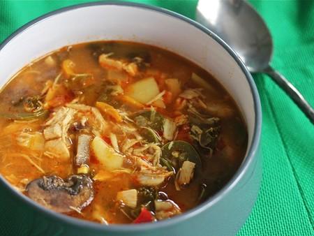 curry de pollo y kale