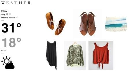 WEΔTHER, la web en la que trabaja tu madre para decirte cómo vestir según el tiempo que hace