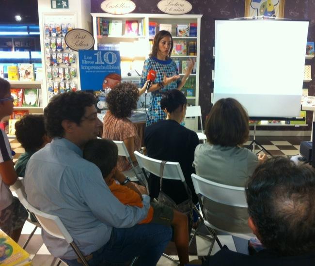 Natalia Chueca en Imaginarium en el Dia de los Abuelos