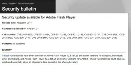 """Un ingeniero de Google denuncia una cantidad """"vergonzosamente grave"""" de errores en Flash Player"""