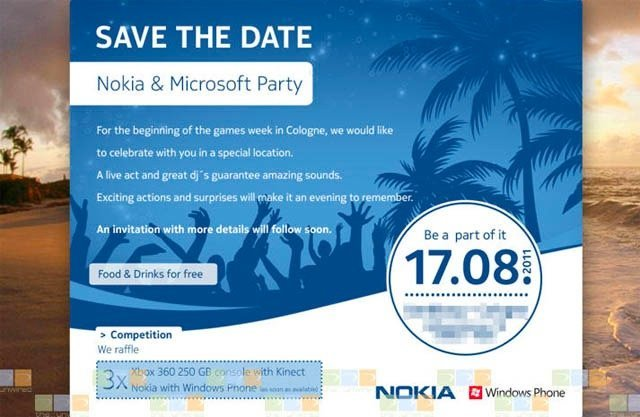 evento invitación nokia microsoft evento alemania colonia windows mobile
