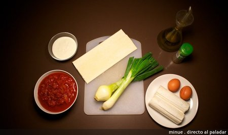 Tarta tatin de cabra - ingredientes