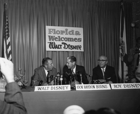 Walt Disney With Company At Press Conference