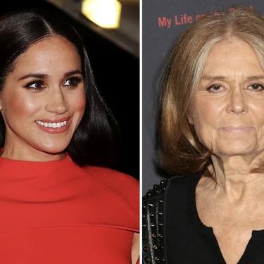 Meghan Markle concede su primera entrevista a Gloria Steinem tras su vuelta a Estados Unidos y su look no pasa desapercibido