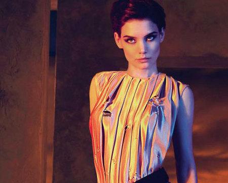 Katie Holmes clon publicitario de Victoria Beckham