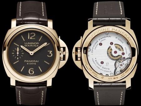 Officine Panerai presenta los relojes Luminor Marina 8 Days 44mm en acero y oro rojo