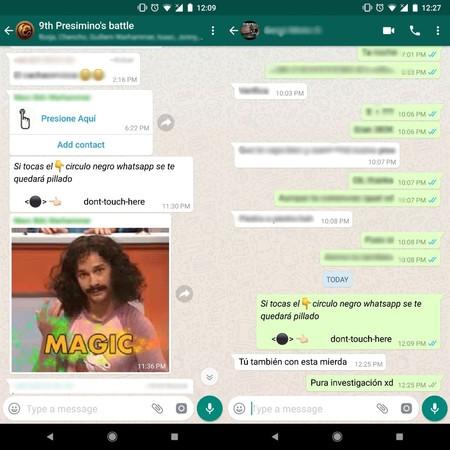 El círculo negro de WhatsApp