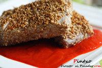 Receta de ventresca de atún con semillas de sésamo y pimientos del piquillo