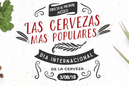 Cuales son las cervezas más famosas. Infografía para el Día Internacional de la Cerveza