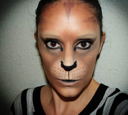 resultado final maquillaje de gata para carnaval