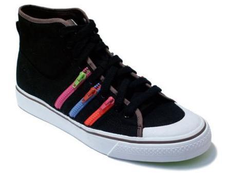 Zapatillas Adidas Nizza Hi Zip con cremalleras a contraste