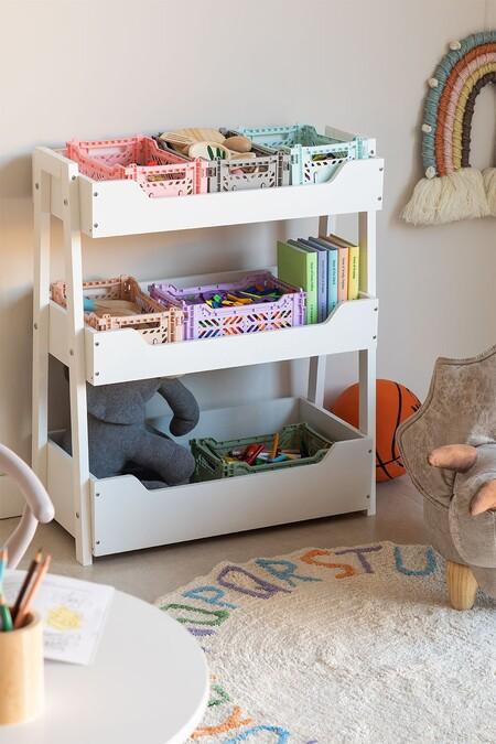 Mueble Organizador De Juguetes En Madera Rielle Kids