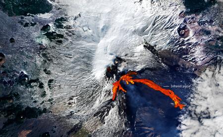Espectaculares imágenes del volcán Etna en erupción desde la Estación espacial europea