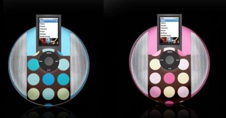 iWave Disk Speaker, altavoces psicodélicos para el iPod Nano