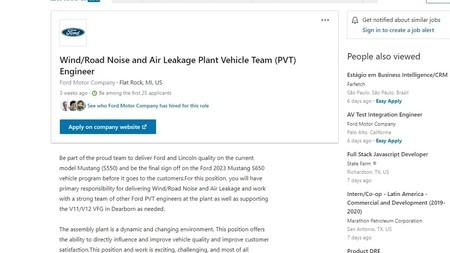 Ford Job Ad Confirming 2023 Mustang