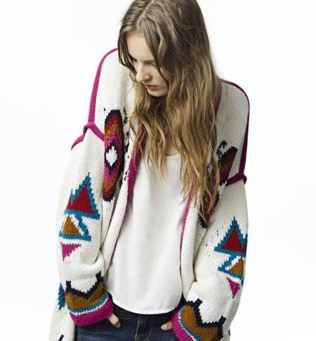 Cardigan Zara Trafaluc colección octubre