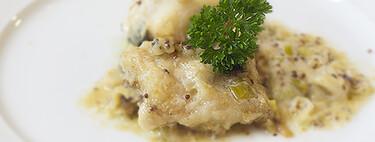 Bacalao con cebolletas y mostaza, receta de Semana Santa