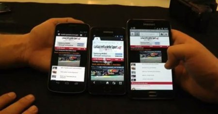 Galaxy Nexus vs. Galaxy Note vs. Galaxy SII: comparativa de pantallas y navegación web [en vídeo]