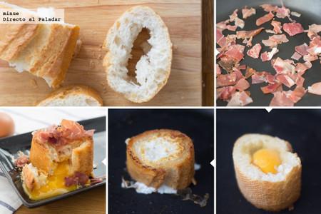 Huevos con jamón en baguette - 2