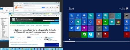 ¿Qué usas más, el escritorio o la pantalla de inicio en ModernUI; por qué? La pregunta de la semana