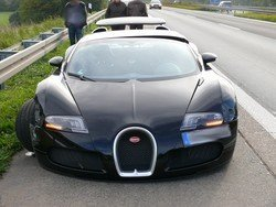 Accidente Bugatti Veyron Autobahn