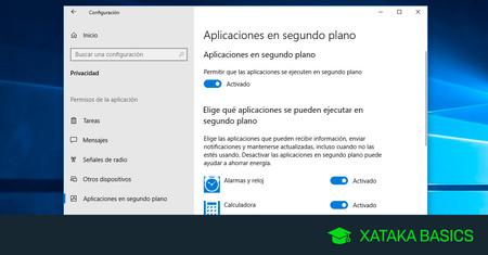 Haz Windows 10 más rápido evitando que las apps se ejecuten en segundo plano