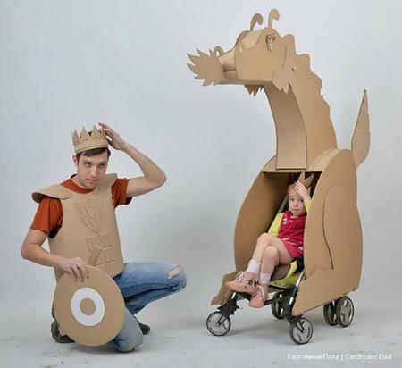 Cardboard Dad, un padre que hace maravillas en cartón