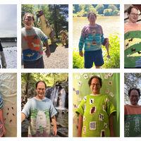 Este héroe hace jerseys de lugares del mundo y luego se fotografía en esos mismos lugares con sus jerseys