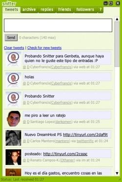 Snitter, cliente de Twitter bajo Adobe AIR