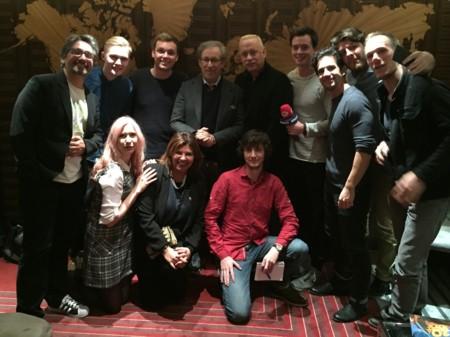 Con Steven Spielberg y Tom Hanks