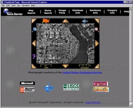 TerraServer: el fracaso del Google Earth que Microsoft alumbró en los '90