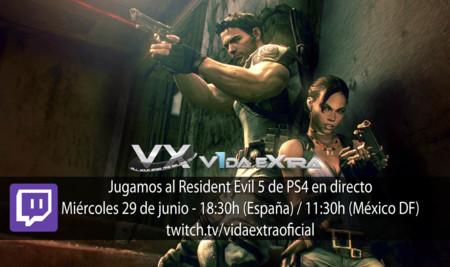 Jugamos al Resident Evil 5 de PS4 a las 18:30h (las 11:30h en Ciudad de México)