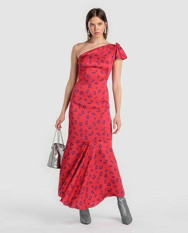 Vestido Invitada Ci Estampado Manchas