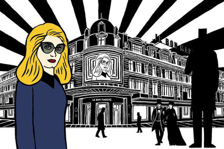 Catherine Deneuve inmortalizada en diez ilustraciones Pop Art por Marjane Satrapi