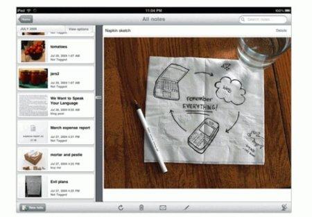 Evernote sueña con convertir el iPad en un Courier