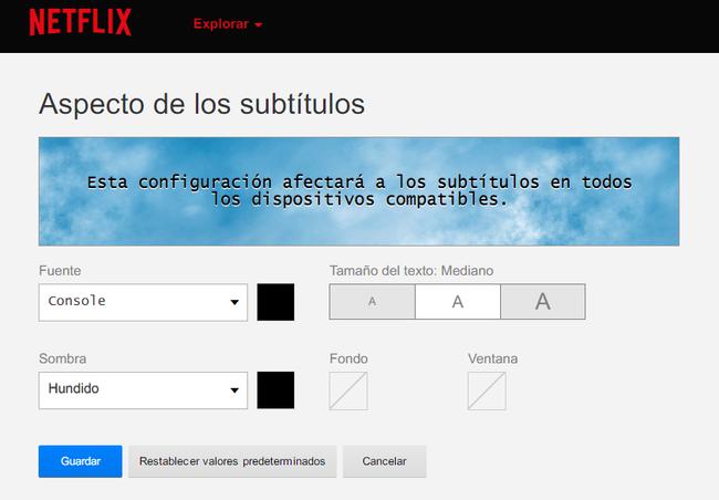 Aspecto De Los Subtitulos En Netflix