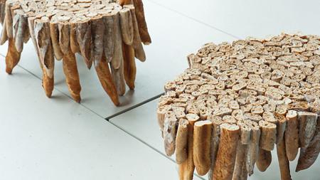Increíble mesa realizada con baguettes