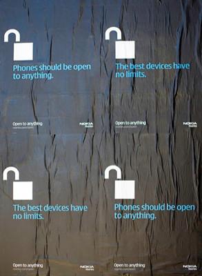 """Campaña de Nokia para promocionar los móviles """"abiertos"""", es decir, los suyos"""