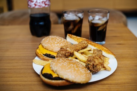 Beef Burger Bread Breaded Chicken 1376964
