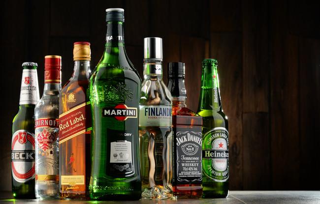 Todas las las bebidas alcohólicas, ordenadas de mayor a menor volumen de alcohol